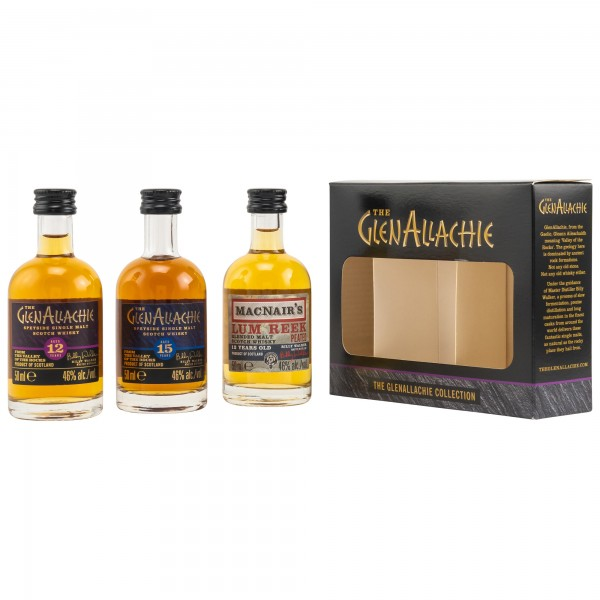 The Glenallachie Distillers Co. Limited GlenAllachie Miniatur Collection (12 Jahre, 15 Jahre, Lum Reek 12 Jahre)